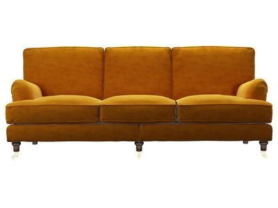 bluebell four seat in sunshine pure cotton matt velvet - http://sofa.s.tomandco.co.uk/shop/sofas/2-seat/bluebell/customize/size/140/fabric/CMVSUN/