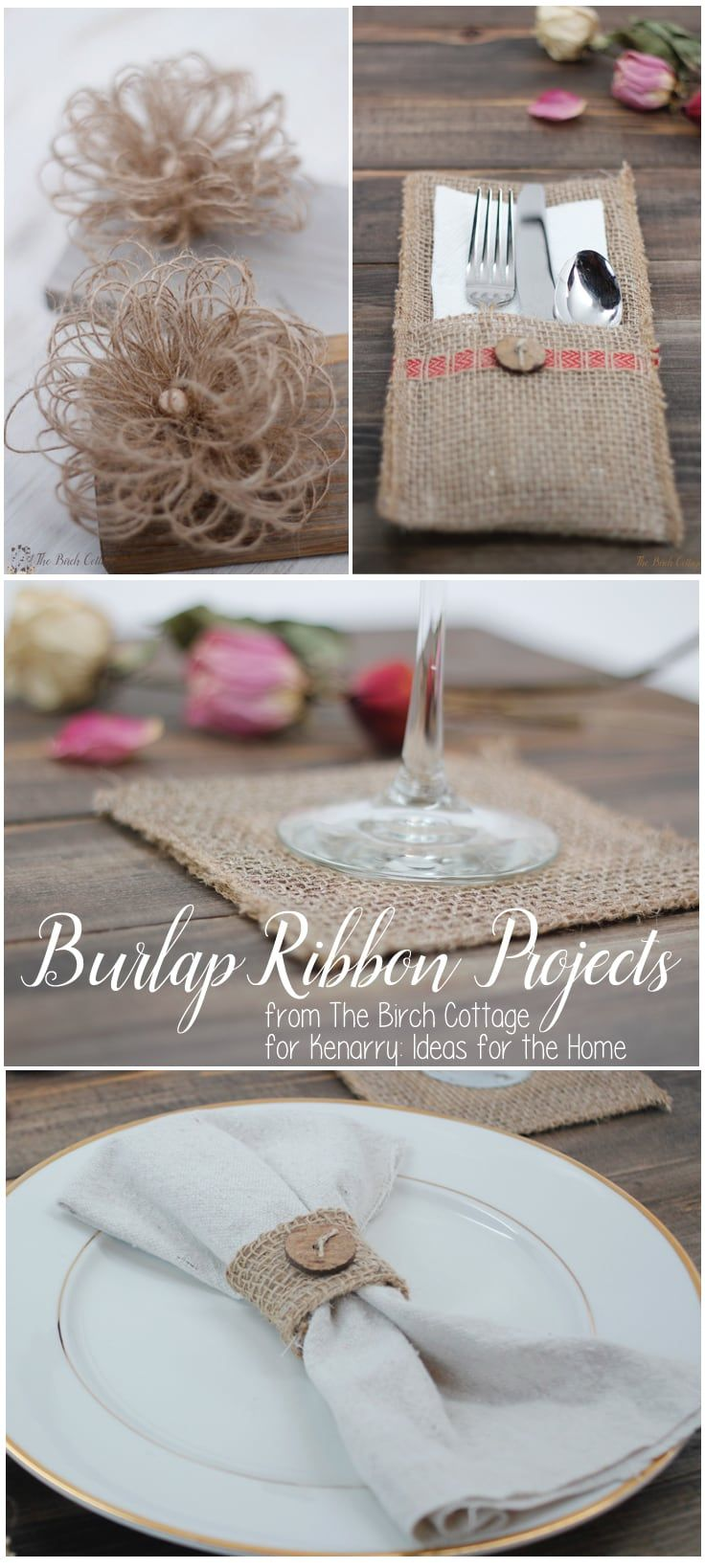 Learn To Make Burlap Coasters From Burlap Ribbon Decor Projects