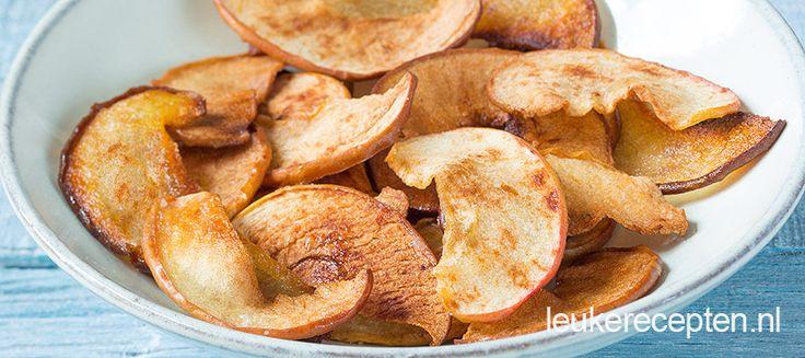 Wist je dat je van appels en peren ook chips kunt maken? Lekker met wat kaneel en poedersuiker uit de oven