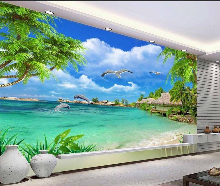 M s de 1000 ideas sobre papel tapiz 3d en pinterest for Vinilos murales paisajes