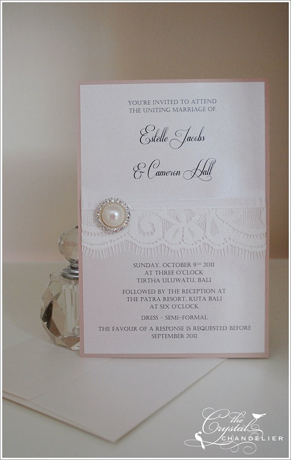 lace wedding invitation wrap%0A wedding invitation with lace