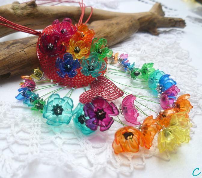 .. make love .. recycling plastic bottle jewelry
