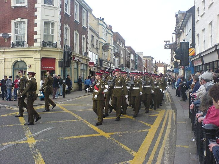 Soldiers of the Royal Anglian Regiment in Number 2 Dress.