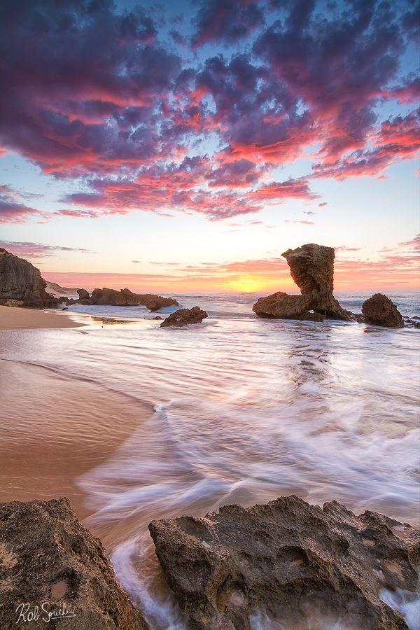 Carriage Rock in Full Colour - Captured along the Sunshine Coast, Kenton on Sea, South Africa,
