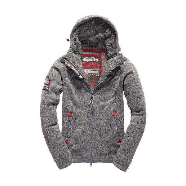 Storm Sidewinder Zip Hoodie ($140) ❤ liked on Polyvore featuring mens, men's clothing, men's hoodies y mid grey marl