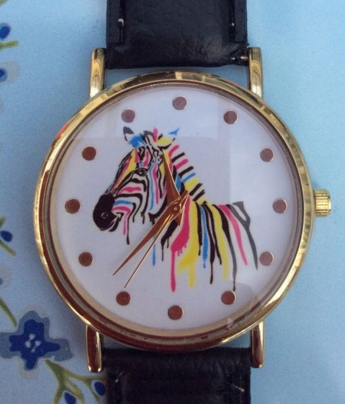 Black Faux Leather Strap Zebra Watch #present #gift #black #fauxleather #fashion #leather #strap #style #zebra #animal #animals #watch #watches #wrist #wristwatch #jewellery #accessories #ladies #men #colour #colourful http://m.ebay.co.uk/itm/Black-Faux-Leather-Strap-Zebra-Animals-Women-Wrist-Watch-Colour-Xmas-Cute-/282438929495?nav=SELLING_ACTIVE