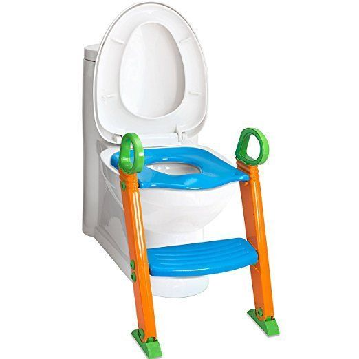 Potty Training Toilet Seat with Step Stool Ladder Kids Bathroom Baby Chair #OxGord