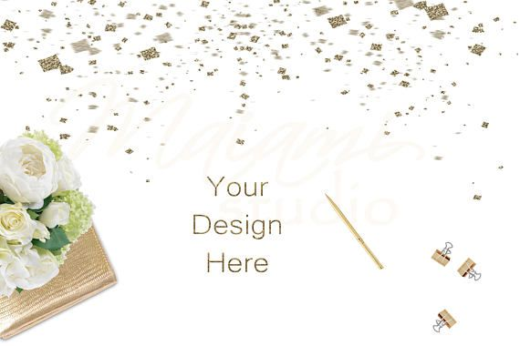 Gold Stock Photo Styled Stock Photography White and Gold