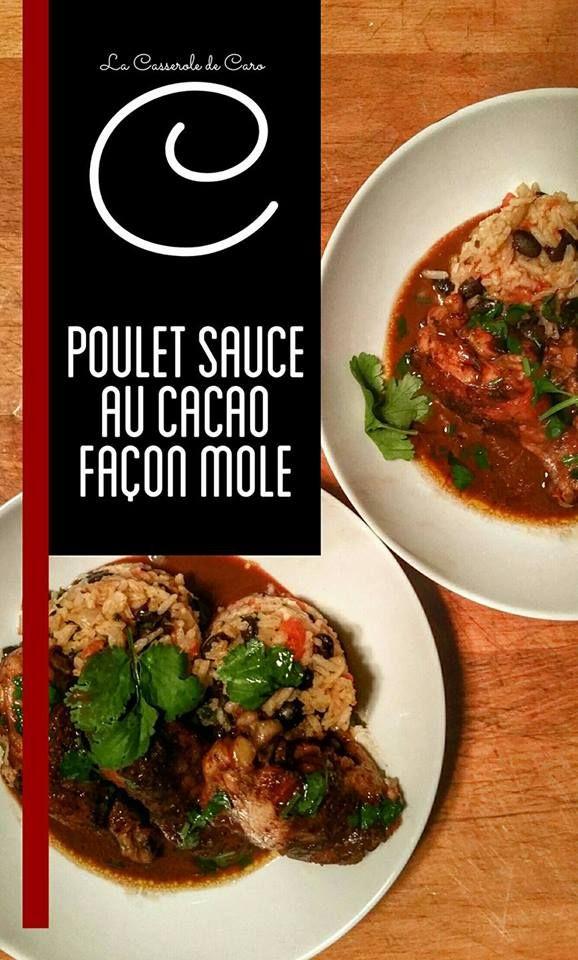 """Poulet sauce au cacao façon """"mole"""""""