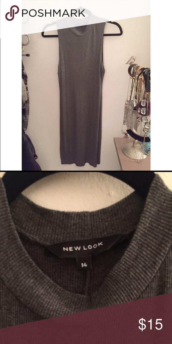 New Look bodycon dress Grey ribbed bodycon dress. UK Size 14 fits American -Medium/Large. Like New New Look Dresses Mini