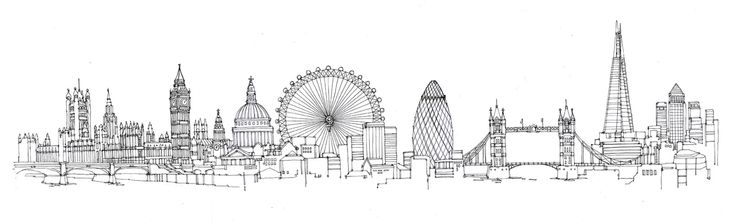 skyline drawing - London