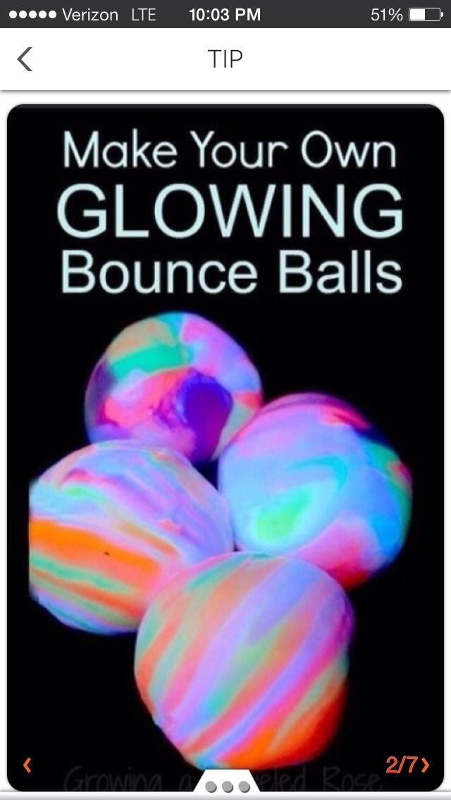 How To Make Your Own Glow In The Dark Bouncey Balls