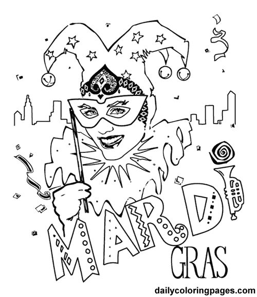 mardi gras party coloring pages kids mardi gras cartoon coloring pages