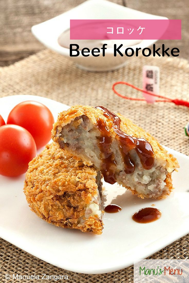 Beef #Korokke - a fantastic #Japanese recipe: deep fried and panko coated #potato and #beef #croquettes.