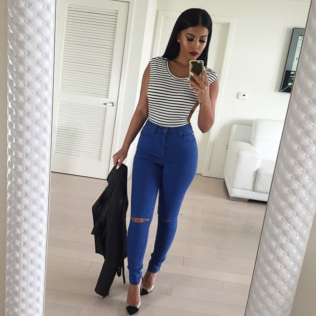 #CasualChic #OOTD Bodysuit @hotmiamistyles Jeans