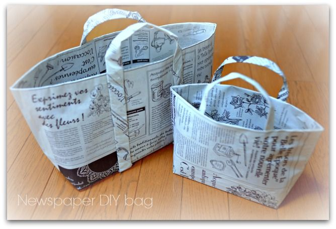 DIY Newspaper bag  #newspaper #diy  #craft