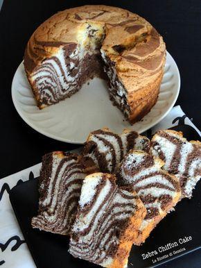 Zebra chiffon cake zebrata bimby