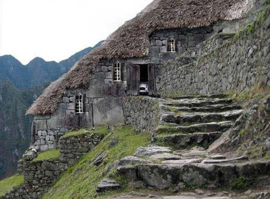 Hillside stone cottage dream house pinterest stone for Amazing architecture homes