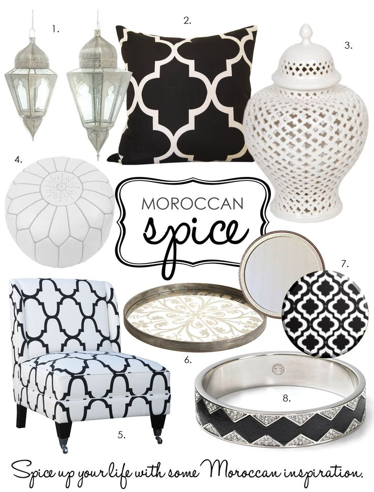 Moroccan print home decor!! <3