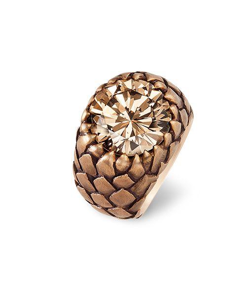 Hemmerle, ring, diamond, red gold, bronze
