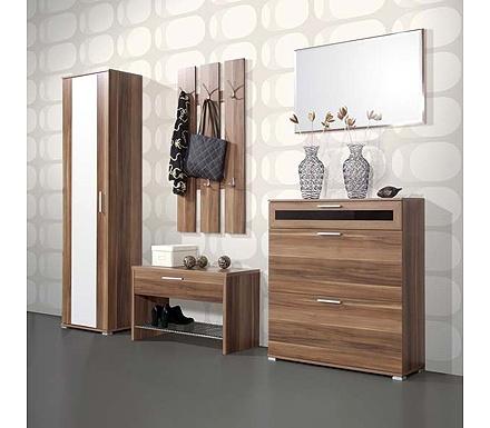 Mataro hallway furniture set 2 in walnut hallway ideas for Latest furniture designs for hall