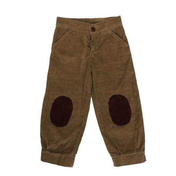 Mákvirág — Corduroy pants brown