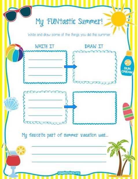 my 39 fun 39 tastic summer printable worksheet a well back to and summer vacations. Black Bedroom Furniture Sets. Home Design Ideas