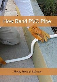 """How to bend 3/4"""" PVC pipe"""