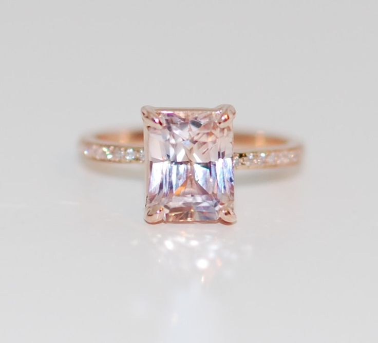 Best 25 peach sapphire engagement rings ideas on pinterest blake lively ring peach sapphire engagement ring eidelprecious wedding weddinginspiration junglespirit Images