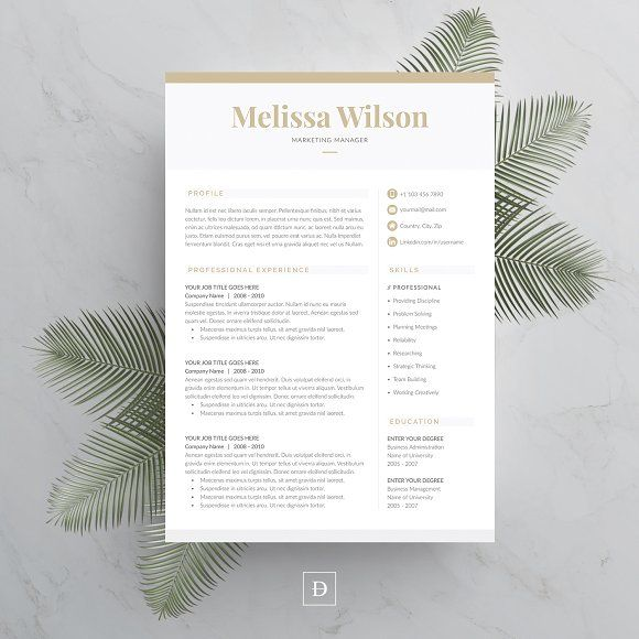 Word Resume & Cover Letter Template  @creativework247