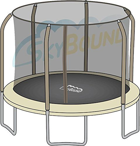 Bounce Pro / Sports Power Round Net Fits 14Ft Trampolines That Use 6 Straight Curved Poles With Top Ring (Net Only - Poles & Trampoline Not Included), 2015 Amazon Top Rated Trampolines #Sports