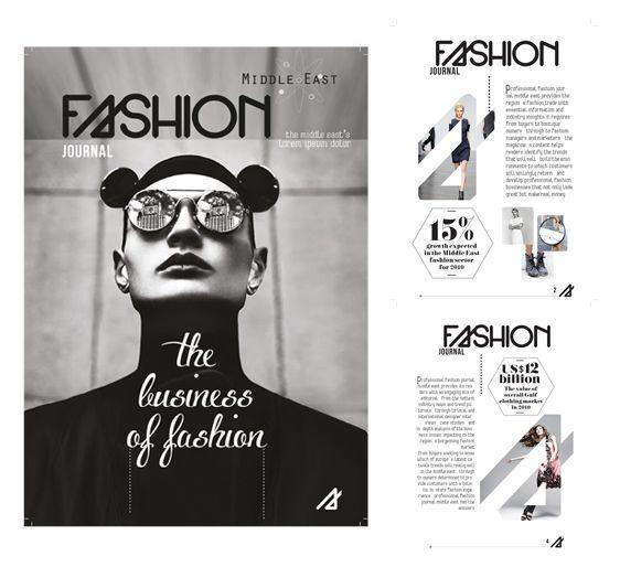 fashion magazine layout on behance magazine layout