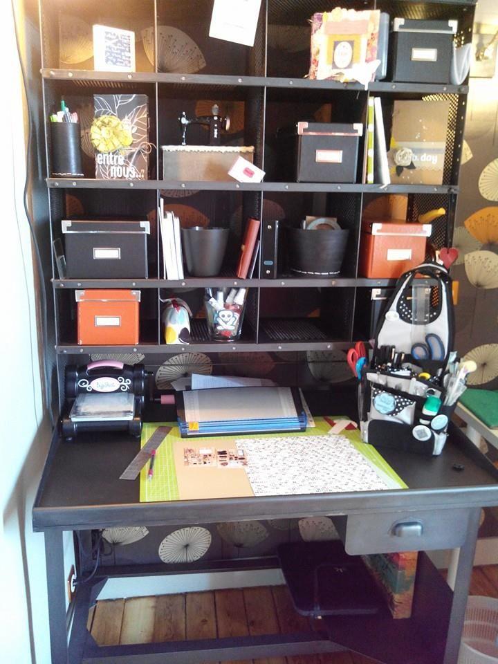 My scraproom - meuble de tri postal - idée bureau scrap
