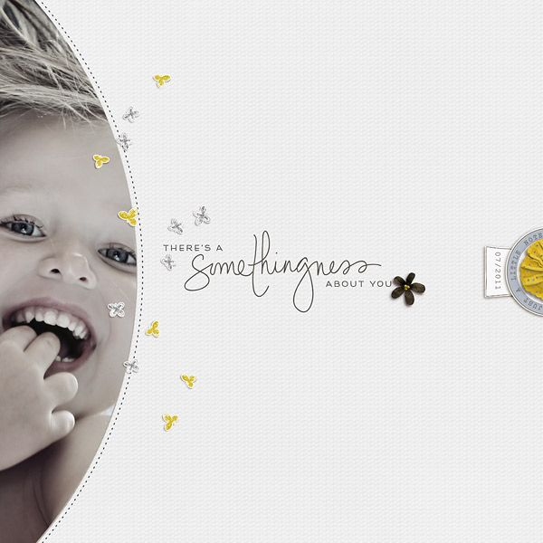 compelling. LO by steffi (two cute wishes) - use similar LO idea with 6x4 photo slot with PL