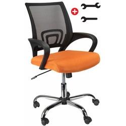 Καρέκλα Γραφείου Comfort Orange & Black 95,01€ #plaisio #καρέκλα γραφείου