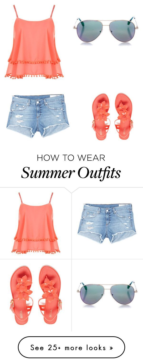 """Summer day outfit"" by kaiaskye on Polyvore featuring WearAll, rag & bone/JEAN, Melissa and Cutler and Gross"