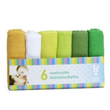 Honey Bunny Baby Washcloths - 6 pack - Assorted