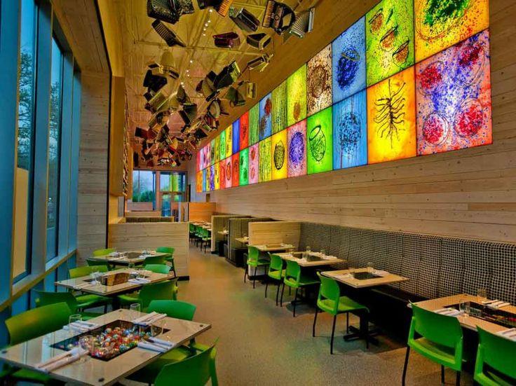 cafe interior designing the homey cafe homey green cafe design - Beaded Inset Restaurant Interior