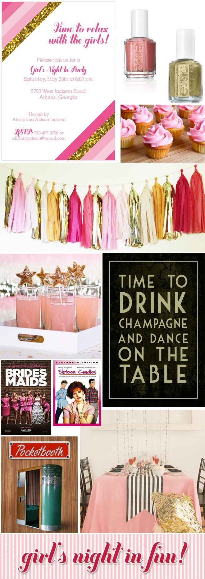 Gmail themes night - 110 Best Images About Girls Night In Party Ideas On Pinterest Pink Popcorn Girls Weekend And Slumber Parties