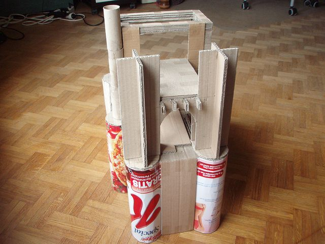 castle papier maché base