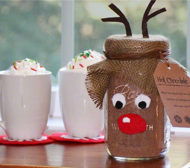 Christmas DIY Ideas: Recycle the Mason Jars -- Reindeer Mason Jar