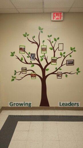 SMS Library hallway tree