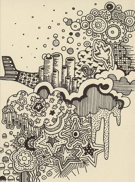 interesting ink doodles c: