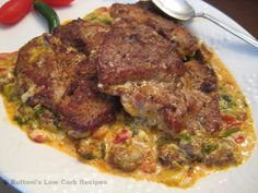 Pork in Queso Flameado Sauce - Buttoni's Low Carb Recipes