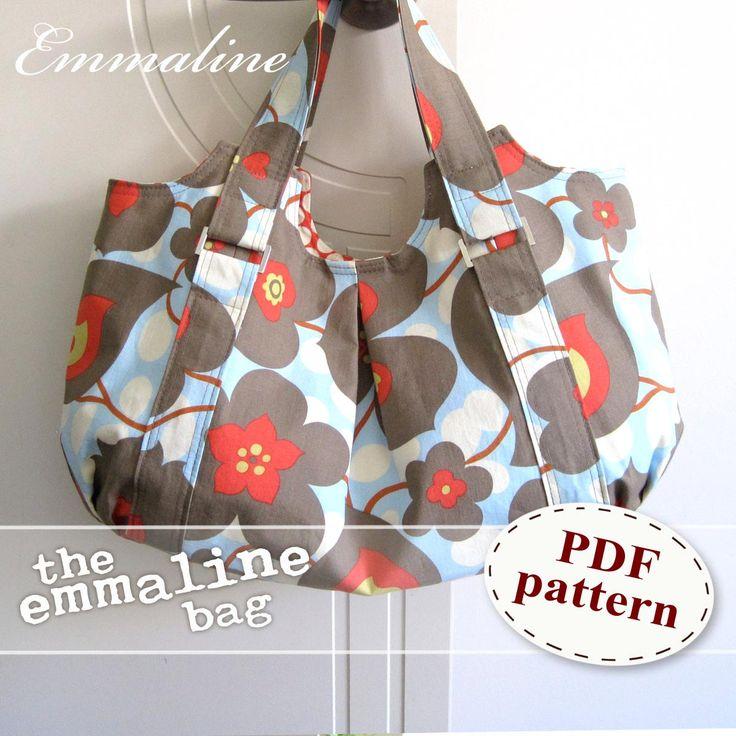 Emmaline Bag PDF Sewing Purse Pattern - A Floral Handmade Purse, Handbag, Shoulder or Hobo Bag. $9.50, via Etsy.