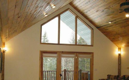 Faux Log Cabin Interior Walls   Log Corner AccentsLog Home ...