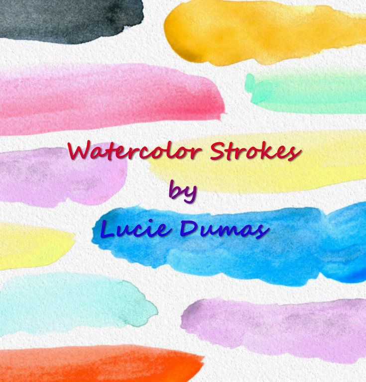 Digital Download PNG Graphic Image Clipart handmade art Watercolor Brush Strokes 3 Splotches L.Dumas Personal & Commercial use by DigitalsbyLucie on Etsy