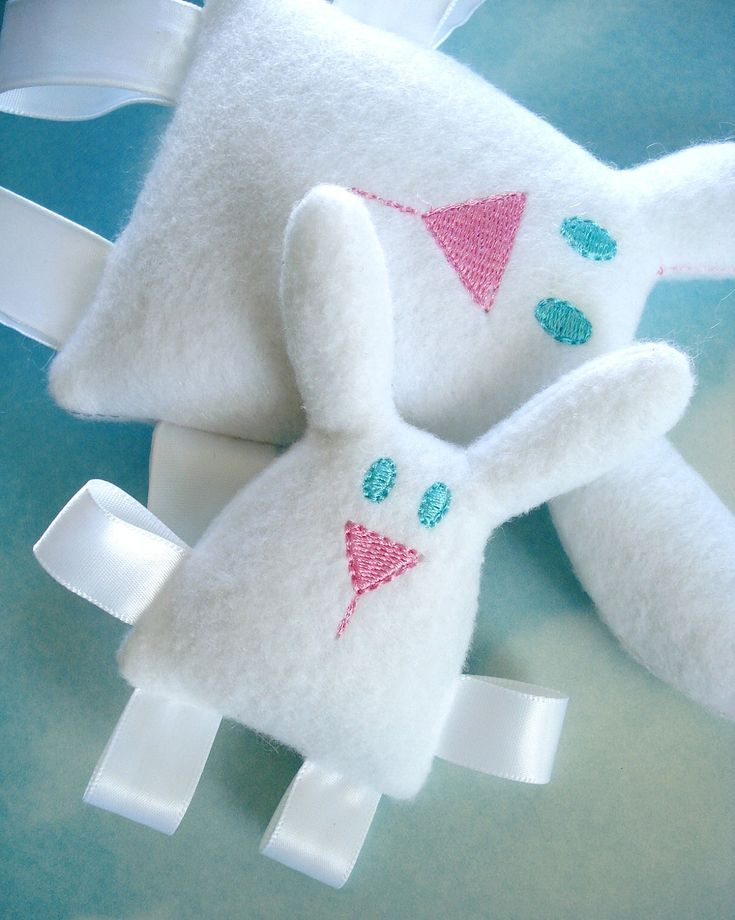 Bunny Embroidery Design for Machine Embroidery - Softie In-The-Hoop. $3.99, via Etsy.