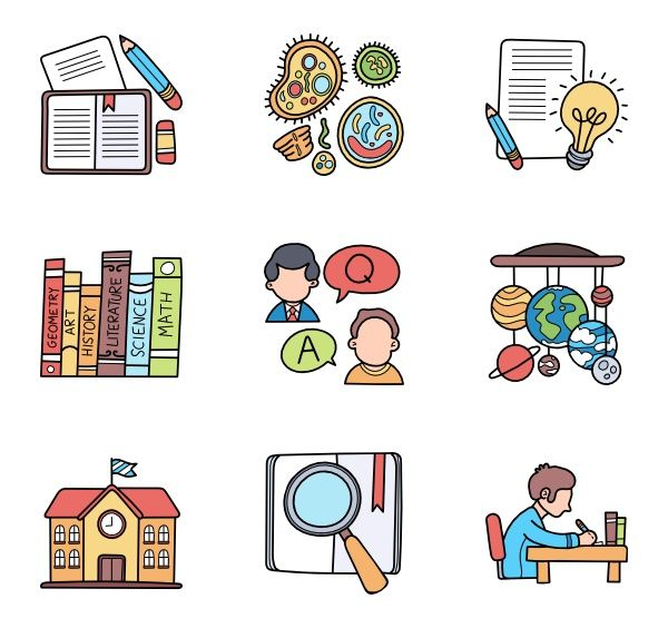 100 Premium Vector Icons Of Back To School Designed By Freepik In