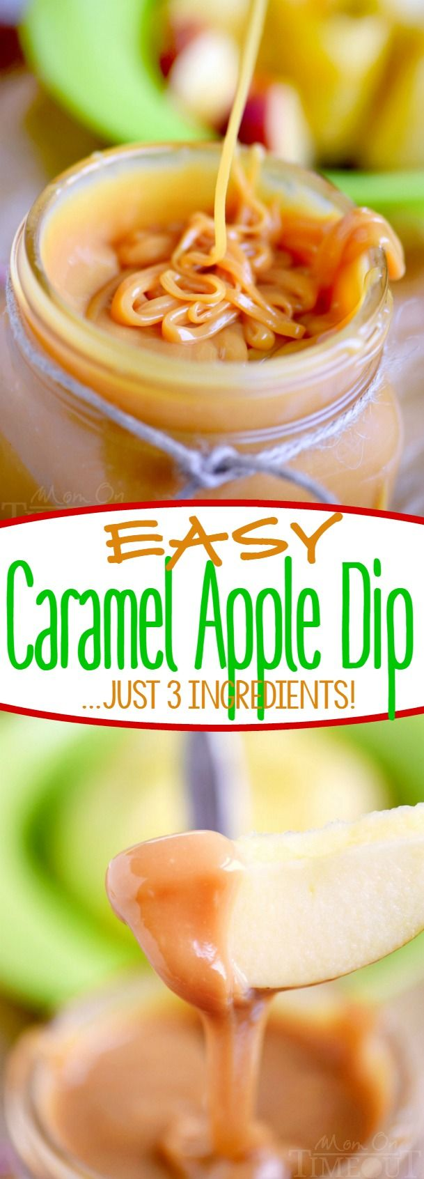This Easy Caramel Apple Dip has just 3 ingredients! Perfect for dipping apples or topping your favorite dessert! An irresistible treat that everyone will love!